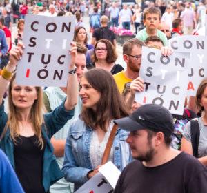 manifestación constitución